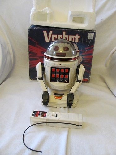 Vintage Tomy Verbot The Programmable Robot Toy 1984