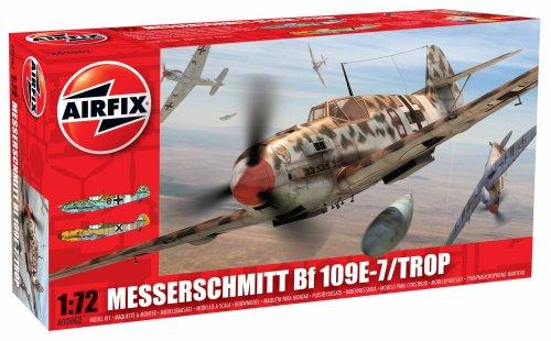 Airfix Messerschmitt Bf109E Tropical Airplane building Kit 172 Scale