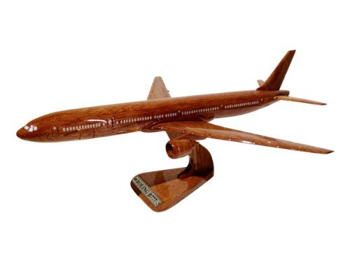 MocPro wooden Airplane model handmade wooden airplane model Boeing 777 Lsize