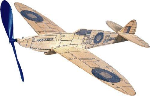 Spitfire West Wings Simple Rubber Powered Balsa Wood Model Plane Kit WW418 by WEST WINGS
