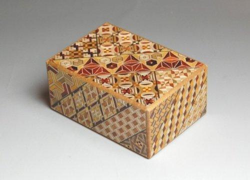 Japanese Yosegi Puzzle Box 4 Sun 12 Moves by Japanese Puzzle Boxes