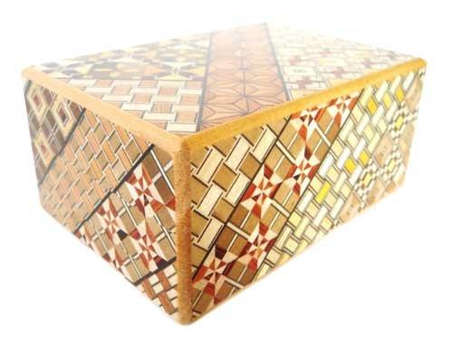 Japanese Yosegi Puzzle Box 4 Sun 7 Moves