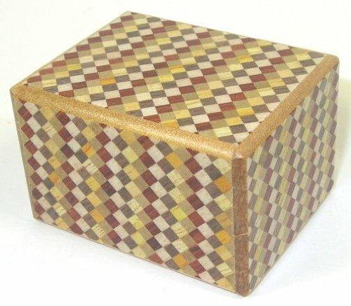 Ichimatsu Pattern 2 Sun 10 step Mini Japanese Puzzle Box