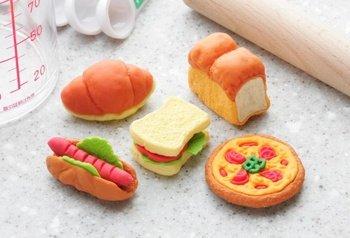 Iwako Japanese Puzzle Take Apart Erasers Bakery 5pcs