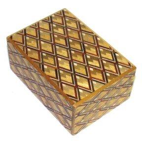 Kujakubishi Pattern 4 Sun 14 Step Japanese Puzzle Box