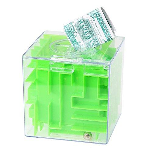 SZAT Money Maze Bank Puzzle Box Piggy Bank for Kids as Christmas Birthday Gift Green