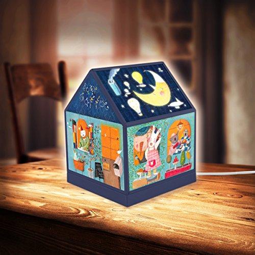 Pintoo - R1002 - Nan Jun - Bear Coffee - 208 Piece Plastic Puzzle House Lantern