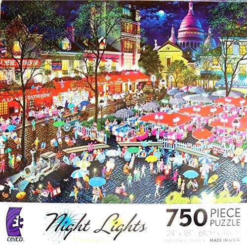 GLOW IN THE DARK Night Lights MONTMARTRE 750 Piece Jigsaw Puzzle