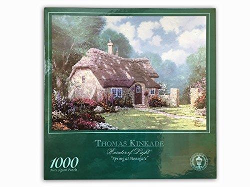 Thomas Kinkade Painters of Light 1000 Piece Jigsaw Puzzle Spring At Stonegate