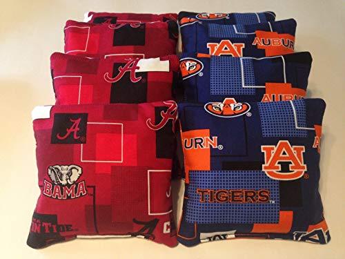 BestSeller989 Alabama Crimson Tide Auburn Tigers Iron Bowl Cornhole Bean Bags 8 Tailgate TOSS