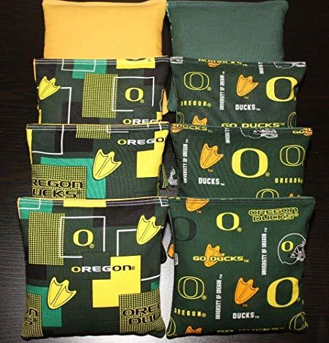 BestSeller989 University of Oregon Ducks Cornhole Bean Bags 8 ACA Regulation Bags