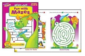 Trend Enterprises Fun with Mazes Wipe-Off Book