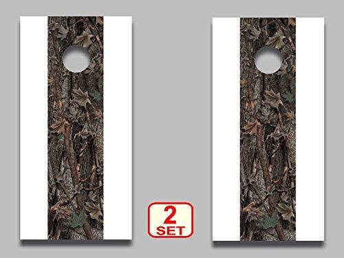 Cornhole board camouflage stripe decals 12x 50 set of 2 corn hole camo woodland