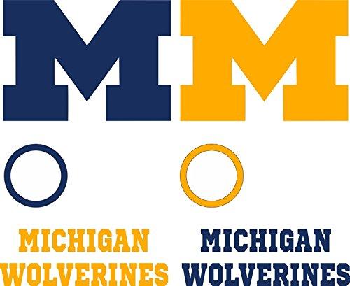 Michigan Wolverines Cornhole Decal Set - 6 Cornhole Decals Free Circles
