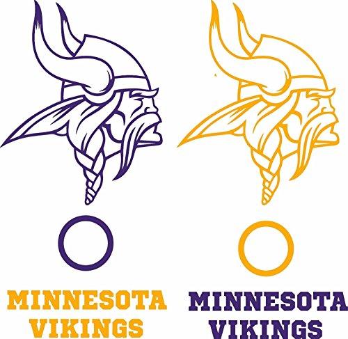 Minnesota Vikings Cornhole Game Board Decal Set - 6 Cornhole Decals Free Circles