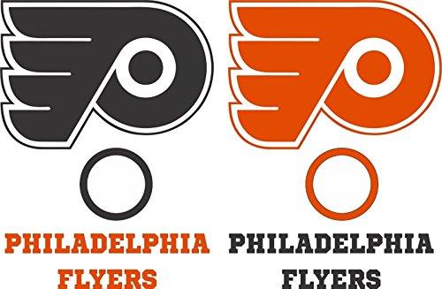 Philadelphia Flyers Cornhole Decal Set - 6 Cornhole Decals Free Circles
