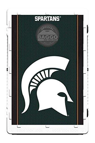 Baggo Collegiate Michigan State Spartans Bean Bag Toss Portable Cornhole Game