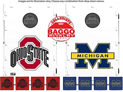House Divided Collegiate Baggo Bean Bag Toss Portable Cornhole Game