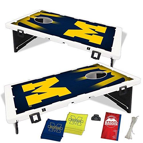 Michigan Wolverines Fanatic Baggo Bean Bag Toss Portable Cornhole Game