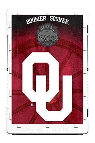 Oklahoma Sooners Fanatic Baggo Bean Bag Toss Portable Cornhole Tailgate Game with Lifetime Warranty