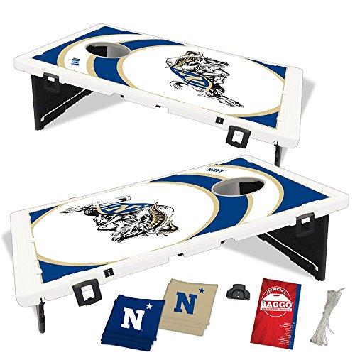 Navy Midshipmen Naval Academy Vortex Baggo Bean Bag Toss Portable Cornhole Game