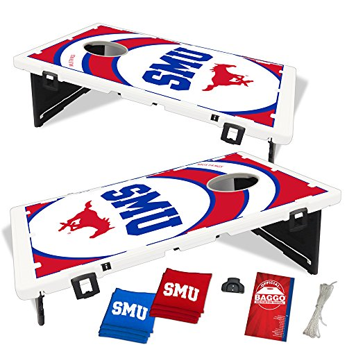 Southern Methodist SMU Mustangs Vortex Baggo Bean Bag Toss Portable Cornhole Game with Lifetime Warranty