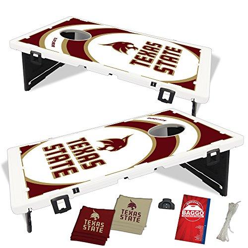 Texas State Bobcats Vortex Baggo Bean Bag Toss Portable Cornhole Game with Lifetime Warranty
