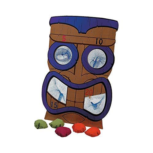 Fun Express - Tiki Bean Bag Toss Game - Toys - Games - Bean Bag Toss - 7 Pieces
