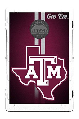 Texas A&M Aggies Fanatic Baggo Bean Bag Toss Portable Cornhole Tailgate Game with Lifetime Warranty