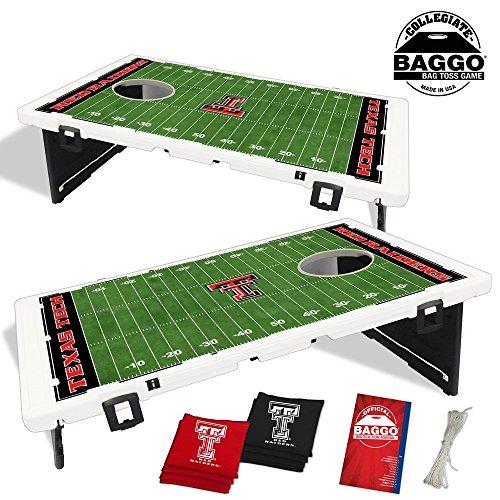 Texas Tech Red Raiders Home Field Baggo Bean Bag Toss Portable Cornhole Game