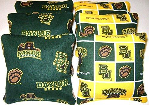 Baylor University Bears Bean Bags Toss Game Cornhole Bags Set of 8 Top Quality