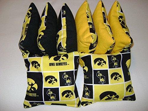 Bean Bag Toss Game Cornhole Bags Iowa Hawkeyes 8 Bags Tailgate Toss Top Quality