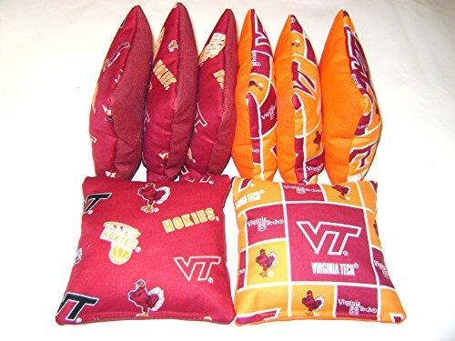 Bean Bag Toss Game Cornhole Bags Virginia Tech Hokies Vt 8 Bags Tailgate Toss
