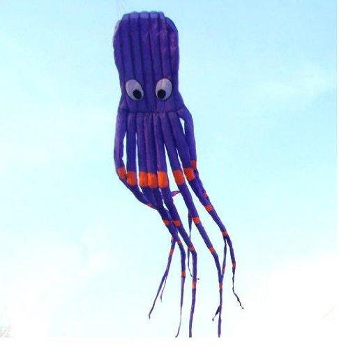 7M Large Octopus Parafoil Kite with Handle String Beach Park Garden Outdoor Fun