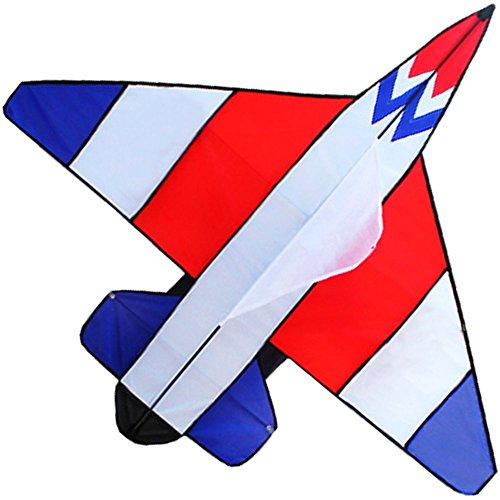 Hengda Kite Colorful Fighter Kites the Plane Kite for Children with Flying Line-RedWhiteBlue