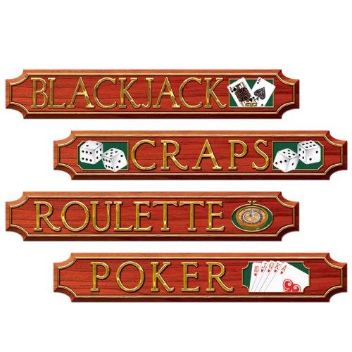 Casino Sign Cutouts   4Pkg