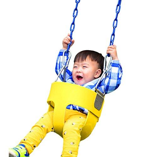 Ancheer Fashion Swing Set Slide Playground Park Children Baby Full Bucket Seat Swing