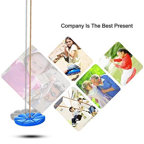 Offeir US Stock Sunflower Design Swing Seat Playground Swing Set Disk Seat Swing Monkey Rope Tree Swing