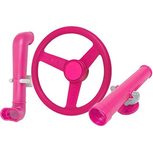 Periscope Telescope Steering Wheel Kit Swing set toys Pink