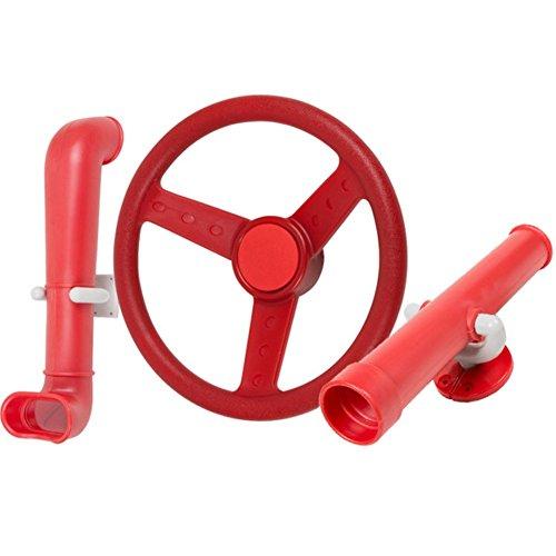 Periscope Telescope Steering Wheel Kit Swing set toys Red