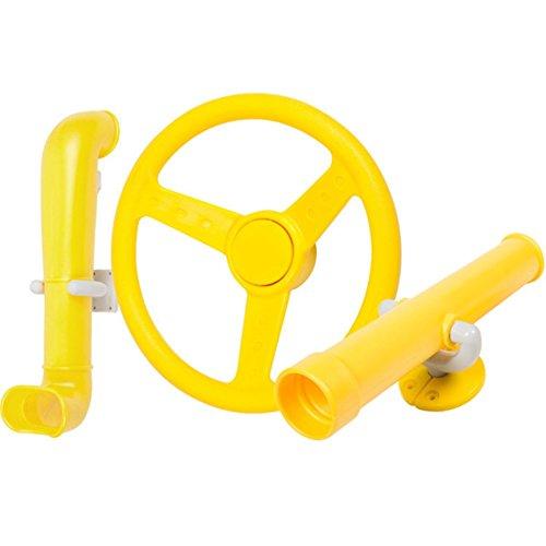 Periscope Telescope Steering Wheel Kit Swing set toys Yellow