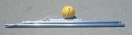 Ground Mounted Tetherball Set