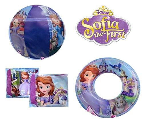 Princess Sofia the First 3pcs Swim Set Beach Ball Arm Floats Swim Ring