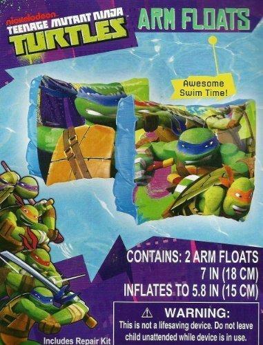 TMNT Teenage Mutant Ninja Turtle Set of 2 Swimming Pool Arm Floats