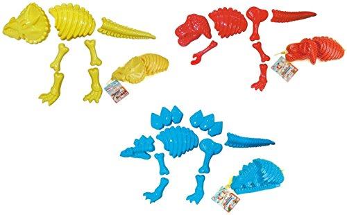 ToyZe3 Large Dinosaur Sand Molds Dinosaur Fossil Skeleton Beach Toy Set