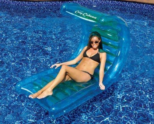 Deluxe Cabana Inflatable Pool Lounge Float by SplashNet