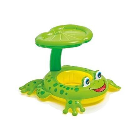 Intex Froggy Friend Shaded Canopy Baby Kiddie Pool Floating Raft  56584EP
