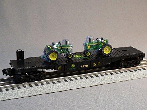 LIONEL JOHN DEERE FLATCAR 2 FARM TRACTORS 164 o gauge train 6-83286