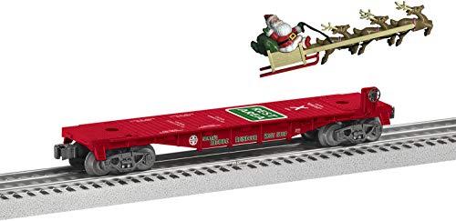 Lionel Trains - Santas Mobile Rest Stop Flatcar O Gauge