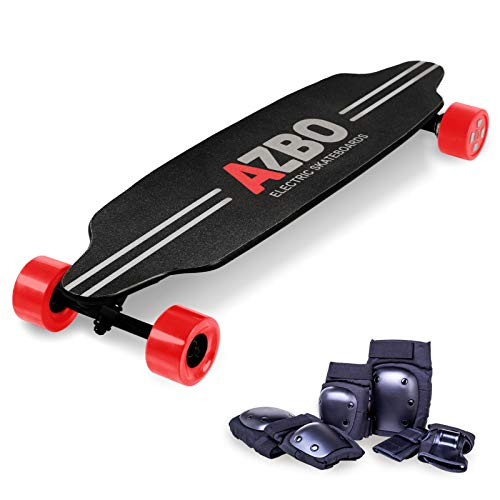 AZBO Electric Skateboard Longboard with Remote Control - Gift Protective Gear Set  2000W Dual Hub Motor UL2272 CertifiedHigh Speed 25 MPH Motorized Wireless H6 Board - 19 Miles Range